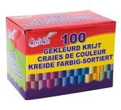 Krijt schoolbord 100stuks kleur assorti