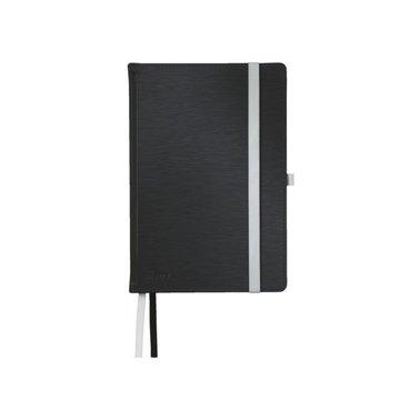 Notitieboek Leitz Style harde kaft A5 gelinieerd satijnzwart