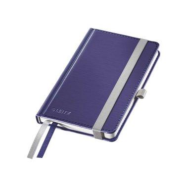 Notitieboek Leitz Style harde kaft A6 lijn titaniumblauw