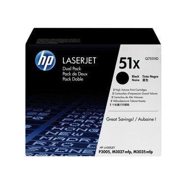 Tonercartridge HP Q7551XD 51X zwart HC 2x