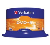 DVD-R Verbatim 4,7GB 16X spindel 50stuks