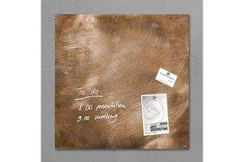 Glasbord Sigel magnetisch 480x480x15mm brons