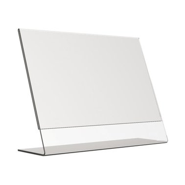 Tafel folderstandaard Opus2 A4 dwars glashelder