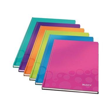 Notitieboek Leitz WOW A4 gelinieerd ijsblauw