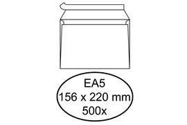Envelop Hermes Digital EA5 156x220mm zelfklevend wit 500stuk