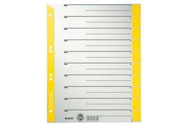 Scheidingsbladen Leitz 1652 A4 karton 230gr 4-gaats geel