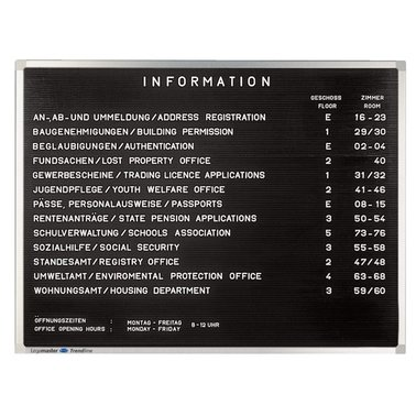 Letterbord Legamaster Premium 40x60cm rubberprofiel