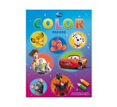 Kleurboek Deltas color parade Disney filmfiguren