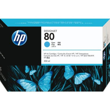 Inkcartridge HP C4846A 80 blauw