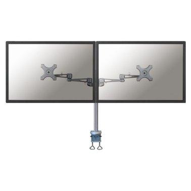 "monitorarm Newstar D935D 2x10-27"" met klem zilvergrijs"