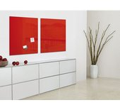Glasbord Sigel magnetisch 1000x1000x18mm rood