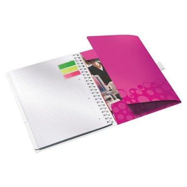 Notitieboek Leitz WOW Bi Mobile A4 PP lijn roze