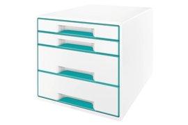 Ladenbox Leitz 5213 WOW 4 laden wit/ijsblauw