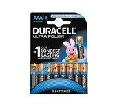 Batterij Duracell Ultra Power 8xAAA alkaline
