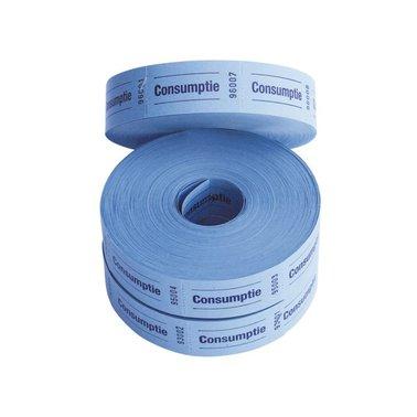 Consumtiebon 57 x 30 2 zijde 2 x 1000st blauw