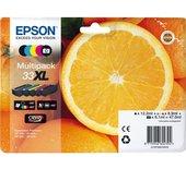 Inkcartridge Epson 33XL T3357 2x zwart + 3 kleuren HC