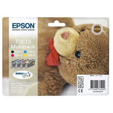 Inkcartridge Epson T0615 zwart + 3 kleuren