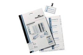 Badgekaart Durable 1451 bedrukbaar 30x60mm 540stuks
