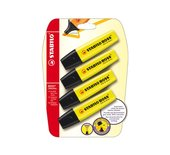 Markeerstift Stabilo Boss geel 4stuks op blister