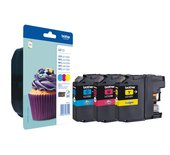 Inkcartridge Brother LC-123RBWBP 3 kleurenset