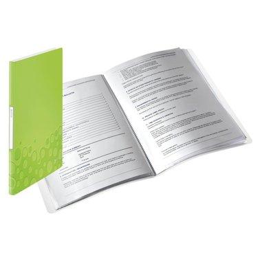 Showmap Leitz WOW 40-tassen PP groen