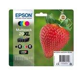 Inkcartridge Epson 29XL T2996 zwart + 3 kleuren HC