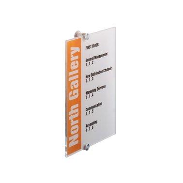 Deurbordje Durable crystal sign 4825 210x297mm