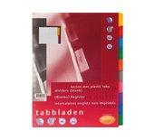 Tabbladen Multo 23-gaats 7310731 10-delig wit karton 220gr