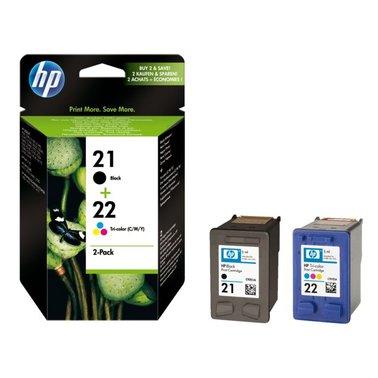 Inkcartridge HP SD367AE 21 + 22 duopack zwart + kleur
