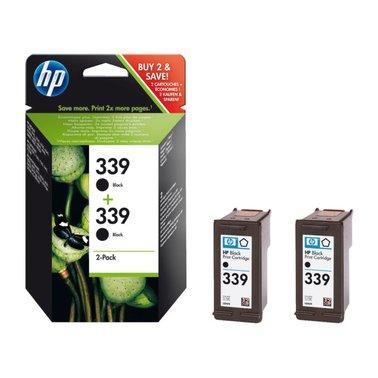 Inkcartridge HP C9504EE 339 zwart 2x