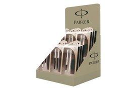 Display Parker Jotter balpen, vulpen en vulpotlood assorti