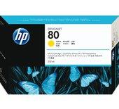Inkcartridge HP C4848A 80 geel