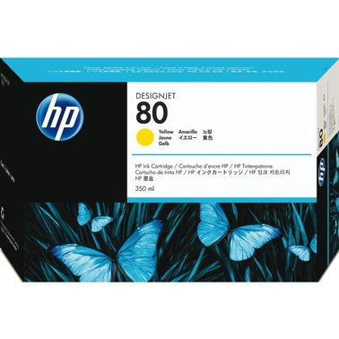 Inkcartridge HP C4848A 80 geel