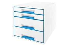 Ladenbox Leitz 5213 WOW 4 laden wit/blauw