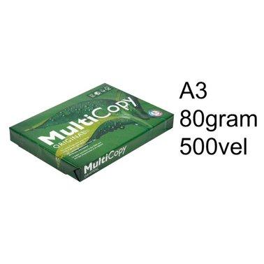 Kopieerpapier Multicopy A3 80gr wit 500vel