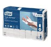 Handdoek Tork H2 100289 2laags 21x26mm wit 21x150st