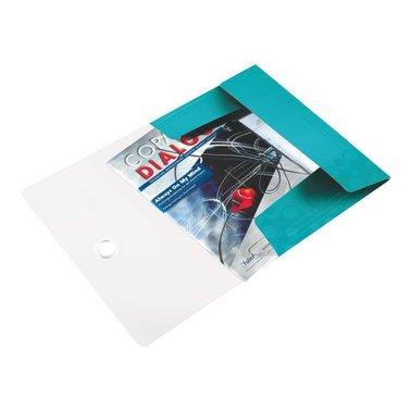 3-klepsmap Leitz WOW A4 PP ijsblauw