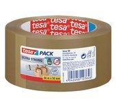 Verpakkingstape Tesa 50mmx66m bruin ultra sterk