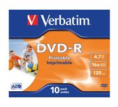 DVD-R Verbatim 4.7GB 16x printable jewelcase