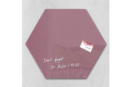 Glasbord Sigel magnetisch 400x460x15mm zeskantig rood
