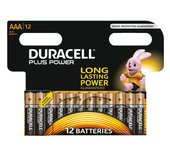 Batterij Duracell Plus Power 12xAAA alkaline