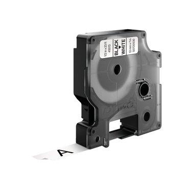 Labeltape Dymo 45013 D1 720530 12mmx7m zwart op wit