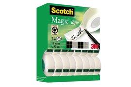Onzichtbaar plakband Scotch Magic 810 19mmx33m 16+8 gratis