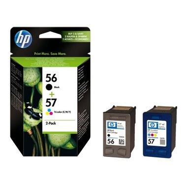 Inkcartridge HP SA342AE 56 + 57 zwart + kleur