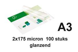 Lamineerhoes GBC A3 2x175micron 100stuks