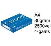 Kopieerpapier Fastprint extra A4 4-gaats box wit 2500vel