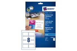 Visitekaart Avery C32028-25 85x54mm 250gr glans 200stuks