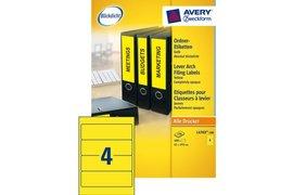 Rugetiket Avery L4769-100 192x61mm zelfklevend geel