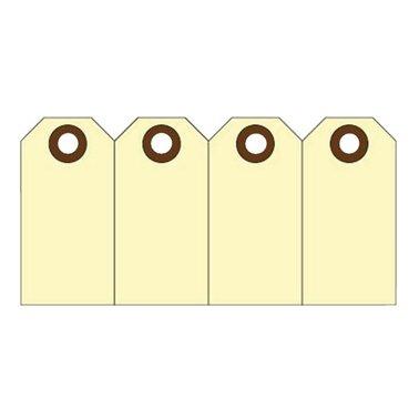 Label karton nr0 200gr 25x50mm geel 1000stuks