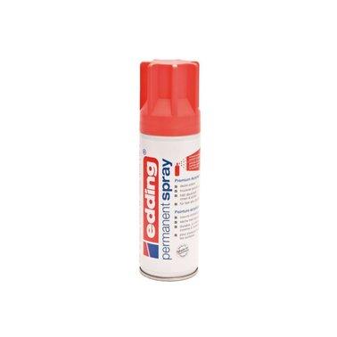 Verfspuitbus edding 5200 permanent spray mat koraal